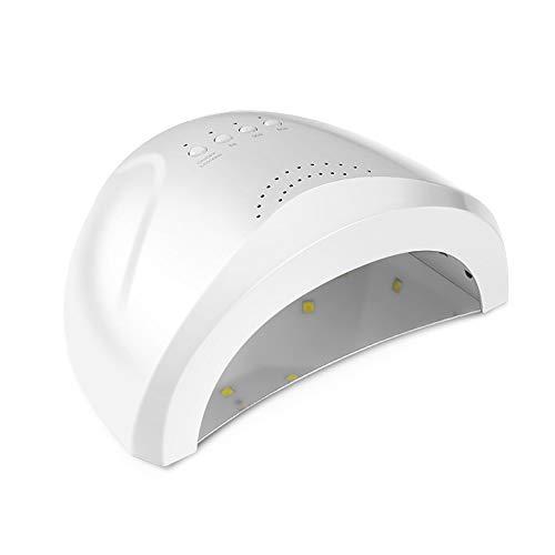 Lámpara de uñas de 24 W / 48 W, lámpara UV para uñas, 30 unidades, lámpara de secado LED con secador de uñas con 3 ajustes para temporizador/sensor de esmalte de uñas con gel UV Gratuito blanco