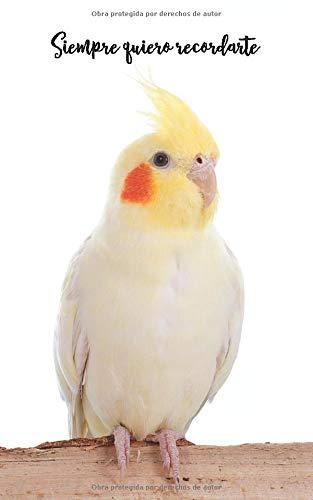 Siempre quiero recordarte: Cuaderno de contraseñas discreto   109 Páginas   432 Espaciosas cajas de registro   Cacatúa Ninfa   Sitio web, Nombre de ...   12,7 x 20,3 cm   Pájaro   Registro