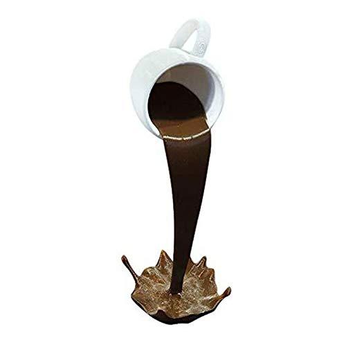 OUJIN Schwebende Kaffeetasse, schwimmende Tasse, Skulptur, Ausgießen, flüssige Kaffeetasse, Kunstdekoration, Geschenk | Küche | Zuhause (braun)