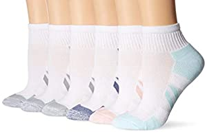 These cushion athletic performance ankle socks come in a pack of six pairs with arch support, moisture management, smooth toe seams, and reinforced heel and toe for long lasting durability Zone cushioning, premium cotton with breathable mesh ventilat...