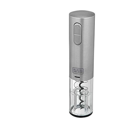 BLACK+DECKER Abridor de Vinho Gourmand Gris Recarregável Via USB BIVOLT W10-BR