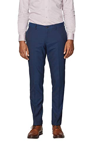 ESPRIT Collection Herren 997EO2B802 Anzughose, Blau (Navy 400), 48