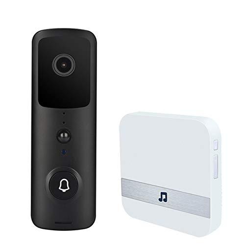 Video Timbre Cámara Visión Nocturna A Prueba De Agua 1080P HD Video PIR Sensor De Movimiento Audio Bidireccional 166 Grados Gran Angular 7 Días Almacenamiento Gratuito En La Nube para iOS/Android