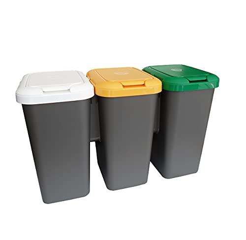 Tontarelli Set 3 PAPELERAS DE Reciclaje