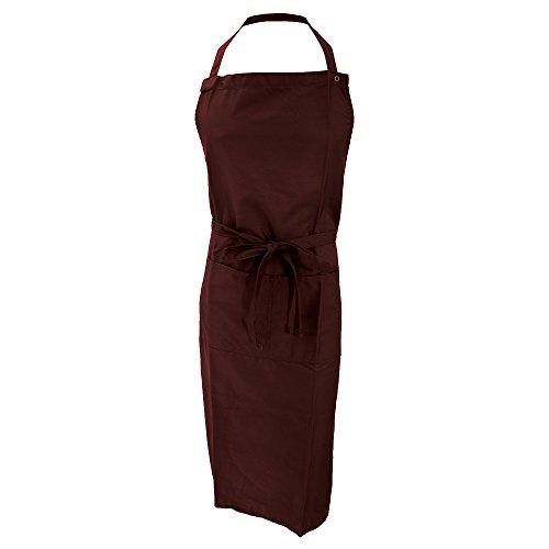 Jassz Bistro Unisex Arbeitsschürze/Schürze mit Brustlatz und Tasche (Einheitsgröße) (Braun)