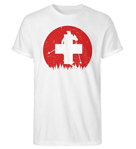 Camiseta para hombre Rollup de la Copa Mundial de Esquí de Suiza | 726 Blanco M