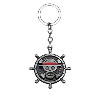 Hot Japan Anime One Piece Keychain Pirate Skull Key Chain Cosplay  Silver