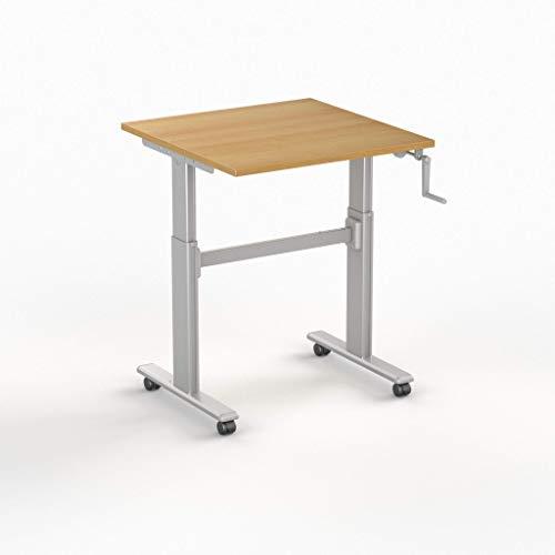 SIT Ständer Schreibtisch 100 HC, Arbeitsplatte erhältlich in 7 Farben, Buche, 140 x 80