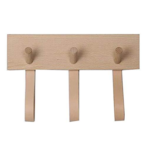 CCLLA Wandgarderobe The Door Hook Hanger Wandhaken-Massivholz Kleiderhaken Nordic Minimalist Wandhaken Kreative Türgarderobe Wandhaken (Farbe: A, Größe: 3 Haken)