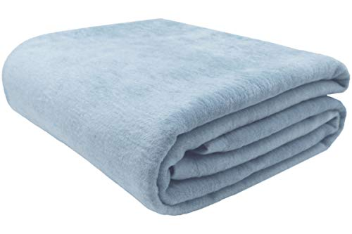 ZOLLNER Manta para Cama 90, azúl, 60% algodón, Medidas
