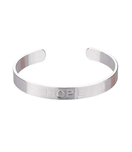 SIX Versilberter Armreif mit Aufschrift - Hope (524-328)