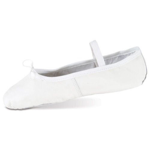 Danshuz Womens White Deluxe Leather Sole Cushion Ballet Shoe Size 10