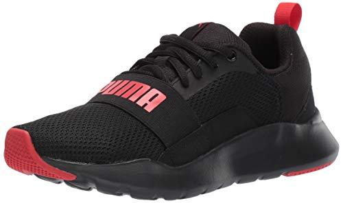 PUMA Kids Wired Sneaker, Black-High Risk Red, 12.5 M US Little Kid