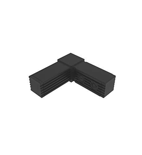 Conectores para tubos cuadrados (en L) - 2 unidades / 25,00 x 25,00 (mm) (Sin ALMA de Acero)