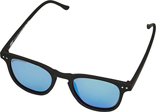 Urban Classics Sonnenbrille Sunglasses Arthur with Chain Lunettes de Soleil, Black/Blue, Taille Unique Mixte Enfant