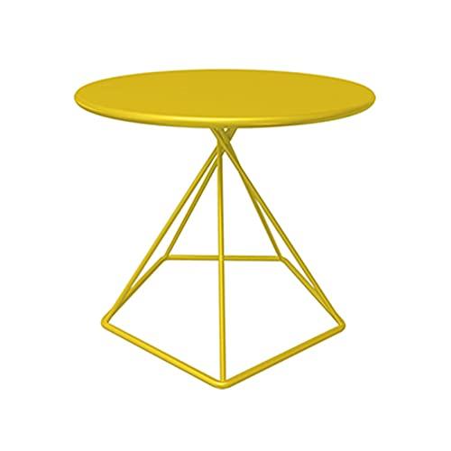 45 * 50 Cm Tavolini da caffè, Tavolo da Pranzo All'aperto A Forma Rotonda Tavoli da Pranzo Stabile Durevole Tavoli da Bar Club Tables Tables Tabella del Bar A Domicilio(Size:45 * 50CM,Color:Yellow)