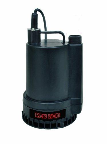 Red Lion 1300 GPH 1/6 HP - Bomba termoplástica sumergible, 1/6 caballo de fuerza, n/a, N/A