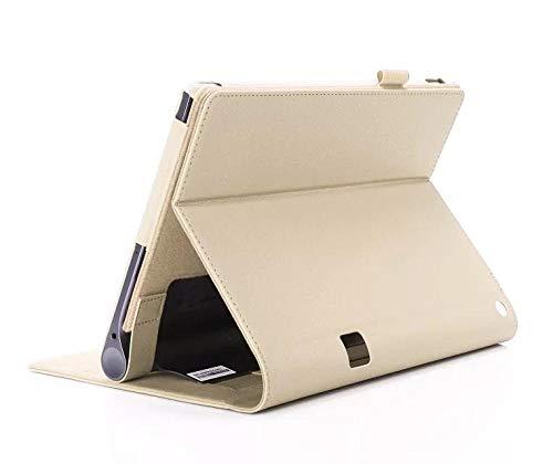 Funda de Cuero Flip Stand Lenovo Yoga Tab3 Tab 3 Plus YT-X703F / Yoga3 Pro X90F / L Cubierta de Tableta de 10.1 Pulgadas-Oro