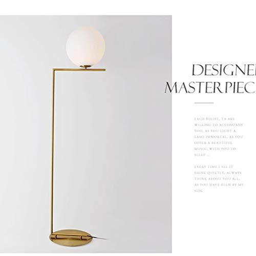 XIN Home staande lamp, leeslamp staand, Nordic post-modern vloerlamp oogbescherming eenvoudige staande lamp slaapkamer woonkamer sofa verticaal licht creatief licht oogbescherming Verticaal goud