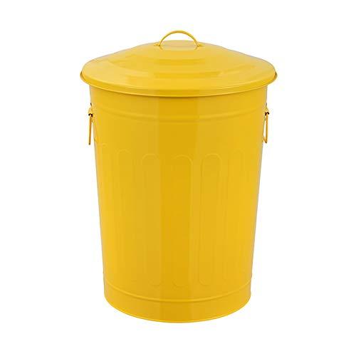 Botes de basura Bote de basura redondo for exteriores / de interior Clasificación Descubrida Clasificación Barura de basura 16.9 Galón Comparte de residuos comercial con tapa, 6 colores Bote de basura