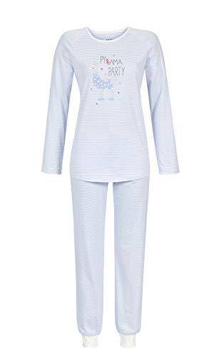 Ringella Damen Pyjama mit Motivdruck ciel 46 9511213, ciel, 46