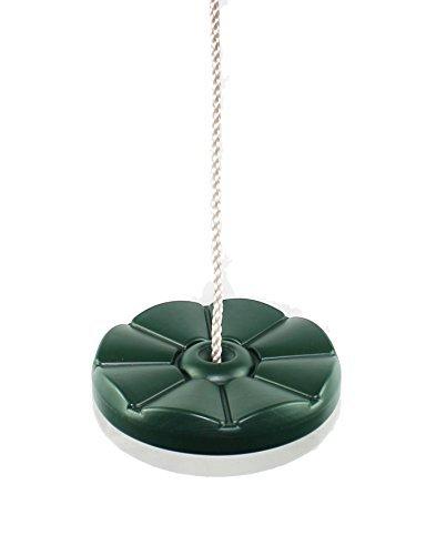 HIKS grün Kids/Kinder Button Disc Monkey rund Seil Swing (auch erhältlich in blau, gelb und rot)