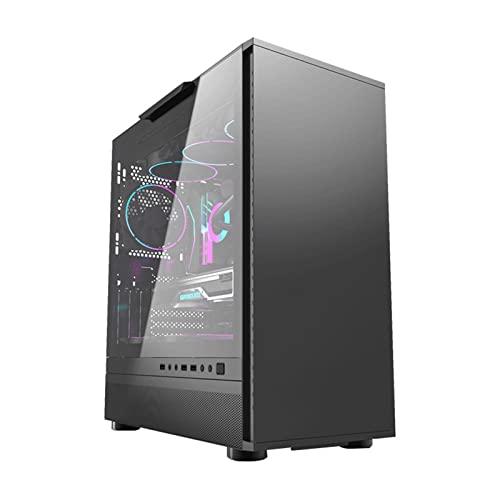 WERTYU Torre Completa De La Caja De La Pc Caja de PC Gaming, Ventiladores Incluidos, Panel Cristal Templado (Color:B)
