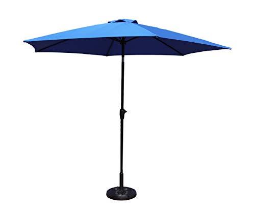 MaxxGarden - Sombrilla de jardín con sistema de rodamientos, 300 cm, color azul