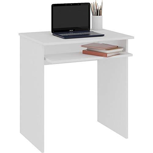 Hucoco Malawi - Escritorio pequeño para Ordenador - 68x74x51 cm - Soporte Deslizante para Teclado - Mesa para Ordenador - Mobiliario de despacho