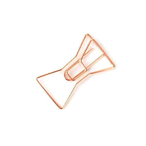 Idyandyans Forma Casuale 20Pcs Rosa Anello d'oro Copricapo Metallo Carta Preferiti 20Pcs Unico Clip dell'ufficio del segnalibro DIY Documenti Clip