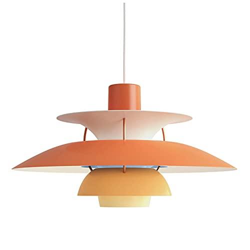 LLLKKK Lámpara colgante PH5, estilo sencillo, E27, aluminio, para comedor, cocina, dormitorio, salón, pasillo, degradado, 30 cm, color amarillo
