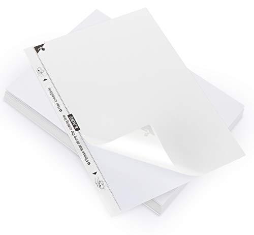 AGOER 80 Feuilles Papier Adhésif Blanc-Étiquette Autocollante A4-210 x 297mm Compatible Imprimantes jet d'encre,pour Imprimante Laser