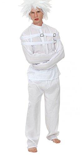 Kostüm Geisteskranker mit Zwangsjacke für Erwachsene Einheitsgröße