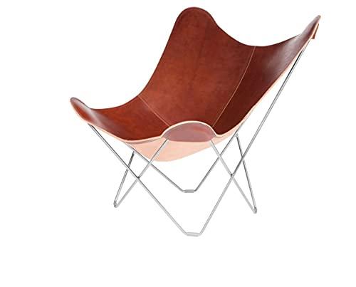 Cuero Design Pampa Mariposa Silla:, Cuero, Crude Oak/Chrome, 87cm