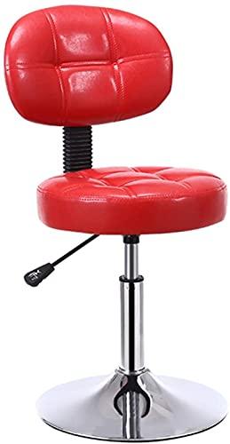 JYHS Sgabello da bar decorativo in pelle PU, con base cromata regolabile a gas, sedia girevole per ufficio, sala riunioni (dimensioni: 38,5 x 42-56 cm, colore: A) confortevole