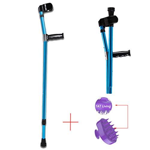WenTao Muletas de Antebrazo Ayudas para Caminar Plegable Muletas Par con Soporte de Codo Ligera de Aluminio 0.52kg15Ajustable en Altura,1PCS