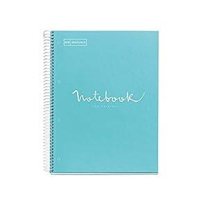 MIQUELRIUS – Cuaderno Notebook Emotions – 1 franja de color, A4, 80 Hojas rayadas punteadas (Dots), Papel 90g, 4…