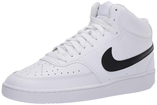 Nike Herren Court Vision Mid Sneaker, White Black White, 37.5 EU