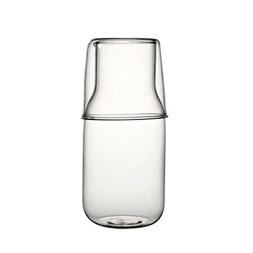 J Robin Juego de jarra y vaso de agua para mesita de...