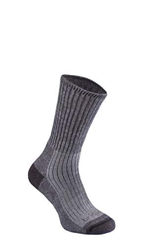 Bridgedale Herren Wandersocken, mittelschwer, Merino-Komfort-Socken, Anthrazit, Größe XL