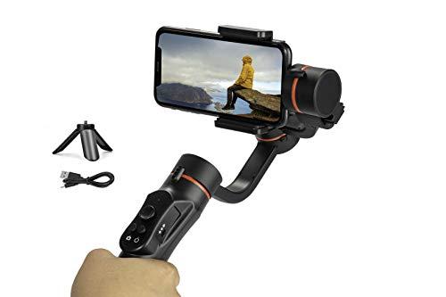 Gimbal Estabilizador para Móvil, 3-Ejes Gimbal Stabilizer con 3 Modo, Gimbal Handheld Ligero con Batería 2200mA, Ideal para Smartphone iOS & Android