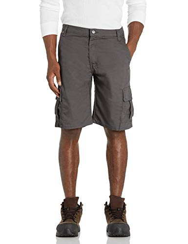 """Dickies Men's 11"""" Cargo Tough Max Duck Short-Relaxed Fit, Slate, 34"""