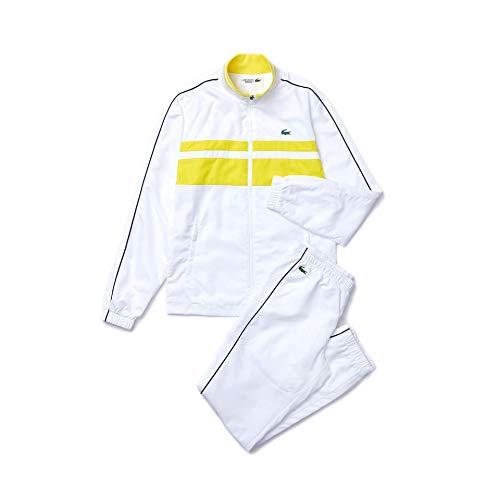 Lacoste Sport WH9691 Conjunto de chándal, Blanc/Ananas-Blanc-Marine, 4XL para Hombre