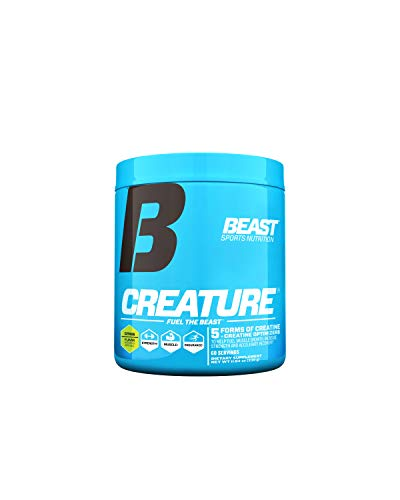 Beast Sports Nutrition – Creature Creatine Complex with Creapure® – Fuel Muscle Growth – Increase Strength – Enhance Endurance – Reduce Recovery Time – 5 Forms of Creatine – Citrus 60 Servings