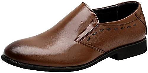 FuWeißncore Herren Abendkleider Business Casual Loafers (Farbe   Braun, Größe   41EU)