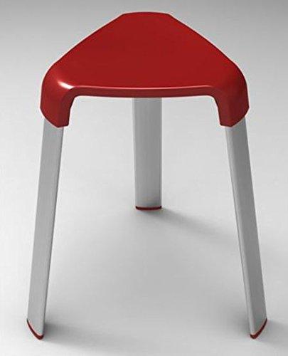 B&B Badhocker Duschhocker Duschstuhl Sitzhocker Duschsitz Hocker Badezimmerhocker (rot)