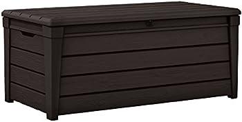 Keter Brightwood 120 Gallon Resin Storage Furniture Deck Box