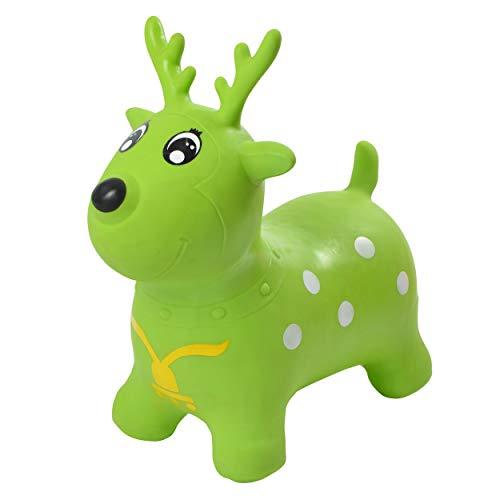 Pink Papaya Hüpftier Enzo REH, Hüpf-Pferd ab 3 Jahren, bis 50 kg, aufblasbares Kinder Hüpfspielzeug BPA frei inkl. Pumpe