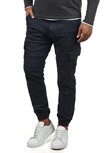Indicode Bromfield Herren Cargohose Lange Hose Mit Taschen, Größe:XL, Farbe:Navy (400)