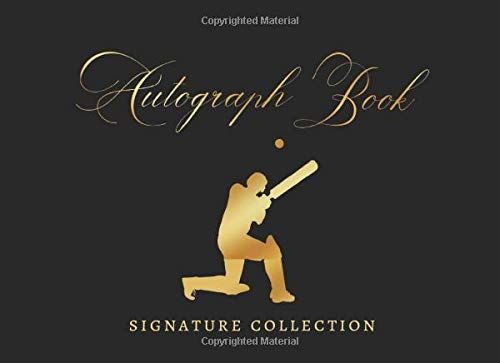 AUTOGRAPH BOOK: SIGNATURE COLLECTION | CRICKET CELEBRITY JOURNAL | CREATIVE GIFT FOR SPORT LOVERS.